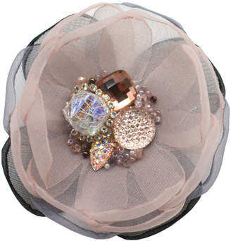 Boe Light Pink Gem Flower Pin