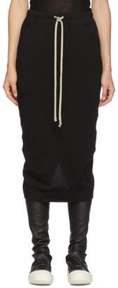 Rick Owens Black Short Pillar Skirt