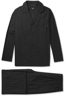 HUGO BOSS Embroidered Cotton Pyjama Set