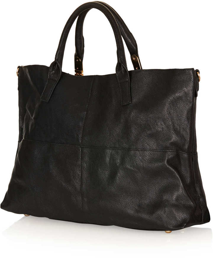 Topshop Suede Backed Tote