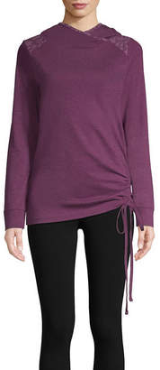 ST. JOHN'S BAY SJB ACTIVE Active Hooded Cinched Pullover