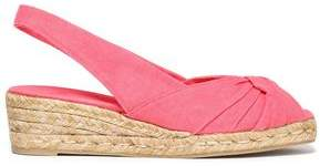 Castaner Twisted Canvas Espadrille Wedge Sandals