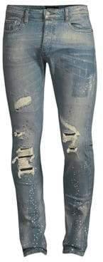The Kooples Distressed Splatter Jeans