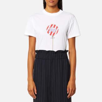 Ganni Women's Harway Love Pop TShirt - Bright White