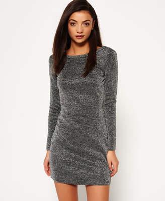 Superdry Metallic Vee Back Knit Dress