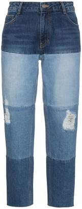 Sjyp high waist multi wash boyfriend jeans