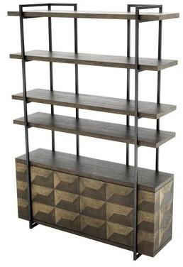 Eichholtz Gregorio Modern Oak China Cabinet