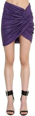 Alexandre Vauthier Embellished Jersey Mini Skirt