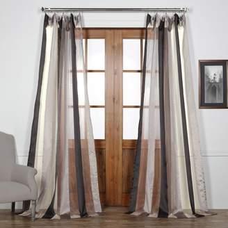 Eff EFF Burnished Vertical Stripe Sheer Curtain