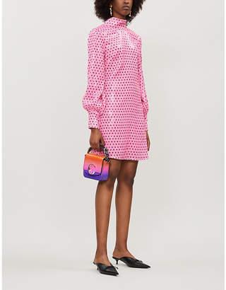 Olivia Rubin Melissa polka dot-pattern sequinned mini dress