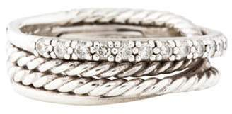 David Yurman Diamond Crossover Ring silver Diamond Crossover Ring