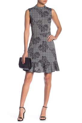Nanette Lepore NANETTE Sleeveless Plaid Ruffle Hem Dress