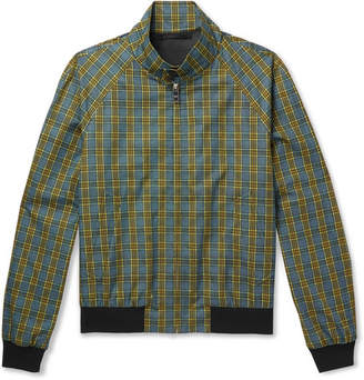 Prada Checked Cotton Blouson Jacket
