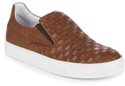 Bacco Bucci Woven Leather Sneakers