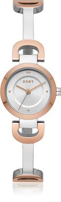 DKNY City Link Two Tone Bangle Women's Watch