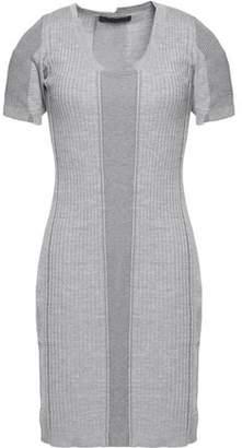 Alexander Wang Paneled Merino Wool-Blend Mini Dress