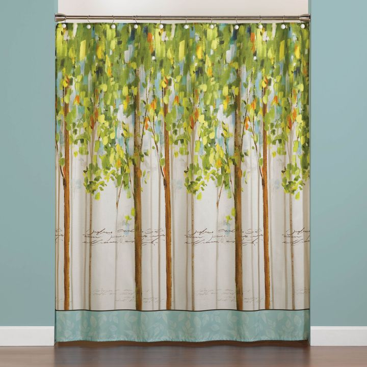 STUDY Forest 70-Inch x 72-Inch Shower Curtain