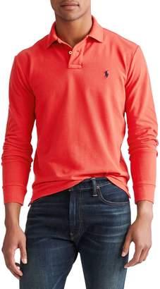 Polo Ralph Lauren Custom Slim Fit Mesh Long Sleeve Polo