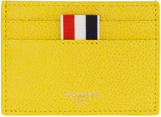 Thom Browne Yellow Single Card Holder $290 thestylecure.com