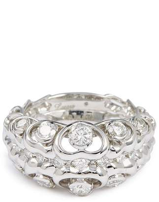 Lazare Kaplan Diamond 18k white gold cutout ring
