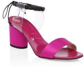 Paul Andrew Estes Satin Slingback Sandals