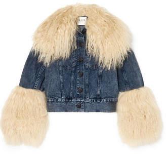 Sea Jocelyn Shearling-trimmed Denim Jacket