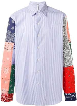Loewe striped and bandana print shirt