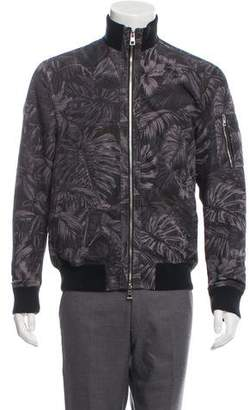 Michael Kors Floral Print Bomber Jacket