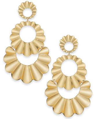 Kate Spade Gold-Tone Scalloped Triple Drop Earrings