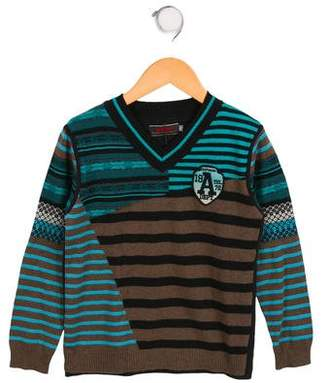 Catimini Boys' Striped Long Sleeve Sweater