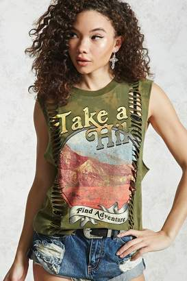 Forever 21 Take A Hike Graphic Muscle Tee