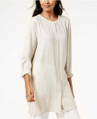 Eileen Fisher Striped Silk Tunic, Regular & Petite