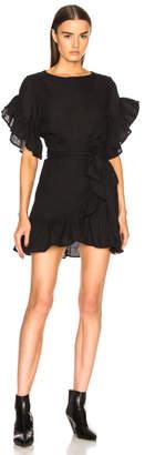 Etoile Isabel Marant Delicia Chic Linen Wrap Dress