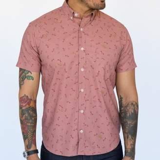 Blade + Blue Pink Dragonfly Print Short Sleeve Shirt - RAYMOND