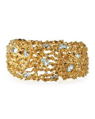 Michael Aram 18k Ocean Caged Bracelet w/ Topaz & Diamonds