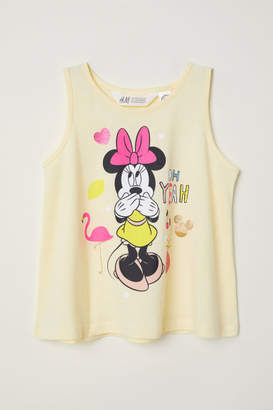 H&M Tank Top with Printed Design - Yellow