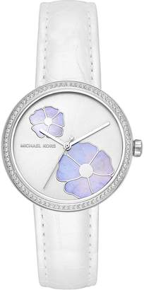 Michael Kors Women's 'Courtney' Quartz Stainless Steel and Leather Casual Watch, Color: (Model: MK2716)
