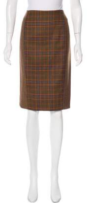 Jenni Kayne Wool Plaid Skirt