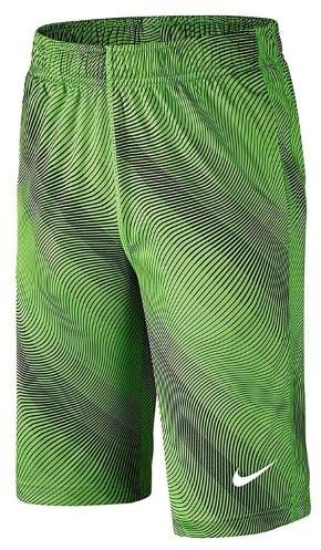 Nike Big Boys' (8-20) Fly Allover Training Shorts-Volt/Black-Medium