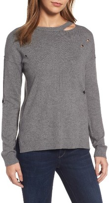 Women's Trouve Distressed Sweater $69 thestylecure.com
