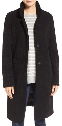 French Connection Faux Persian Lamb Fur Long Reefer Coat $198 thestylecure.com