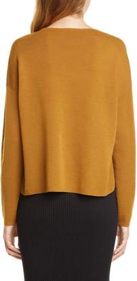 Eileen Fisher Crewneck Merino Wool Top