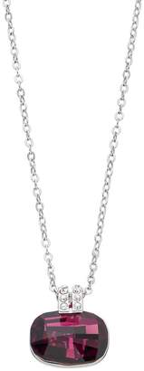Brilliance+ Brilliance Silver Tone Cushion Pendant Necklace with Swarovski Crystals