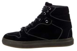Balenciaga Velvet High-Top Sneakers