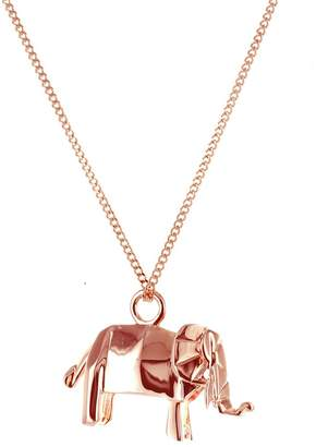 Origami Jewellery Mini Elephant Necklace Rose Gold