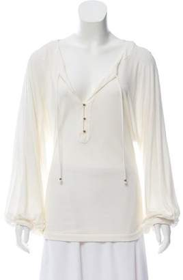 Diane von Furstenberg Long Sleeve V-neck Top