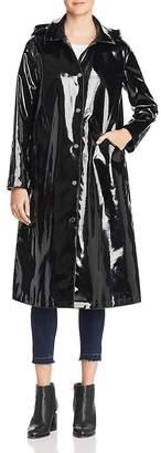 Jane Post Long Snap Slicker Raincoat