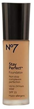 Boots No7 Stay Perfect Foundation (Warm Ivory) by
