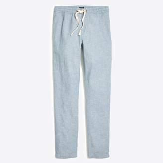 J.Crew Factory Driggs slim-fit linen-cotton drawstring pant