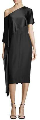Narciso Rodriguez One-Shoulder Asymmetric-Sash Dress
